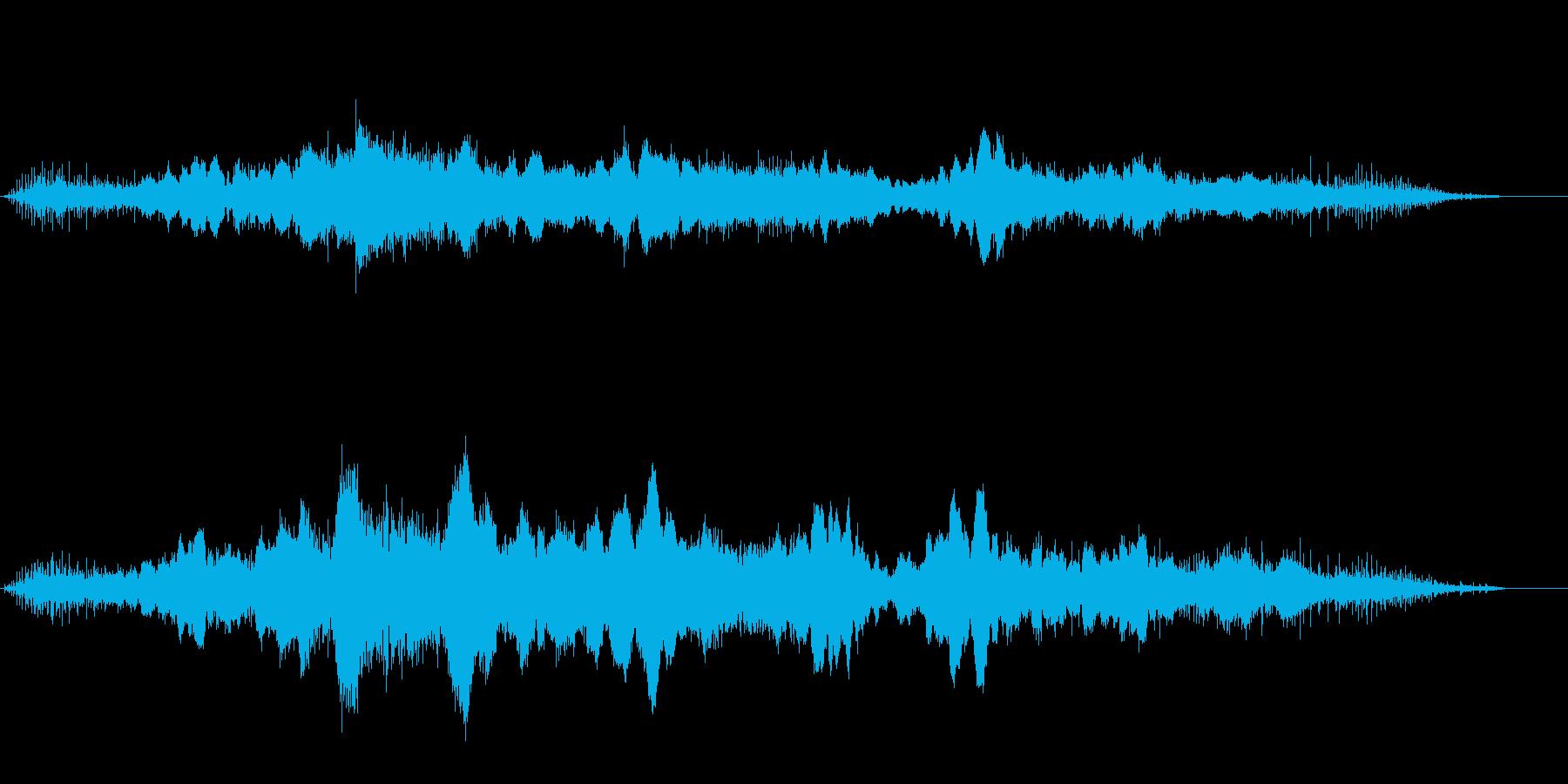 ガタガタと音を立てる不穏で神秘的な音風景の再生済みの波形
