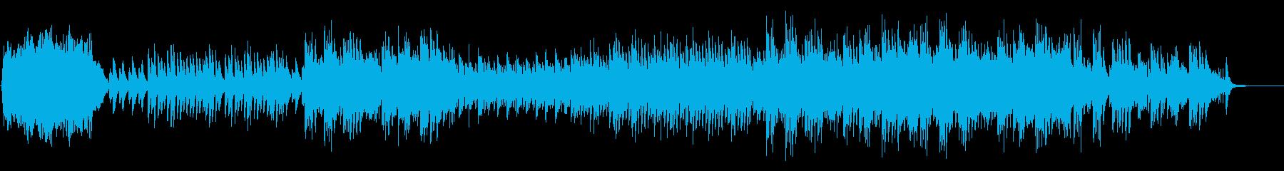 ハープとピアノが感傷的に響くバラードの再生済みの波形