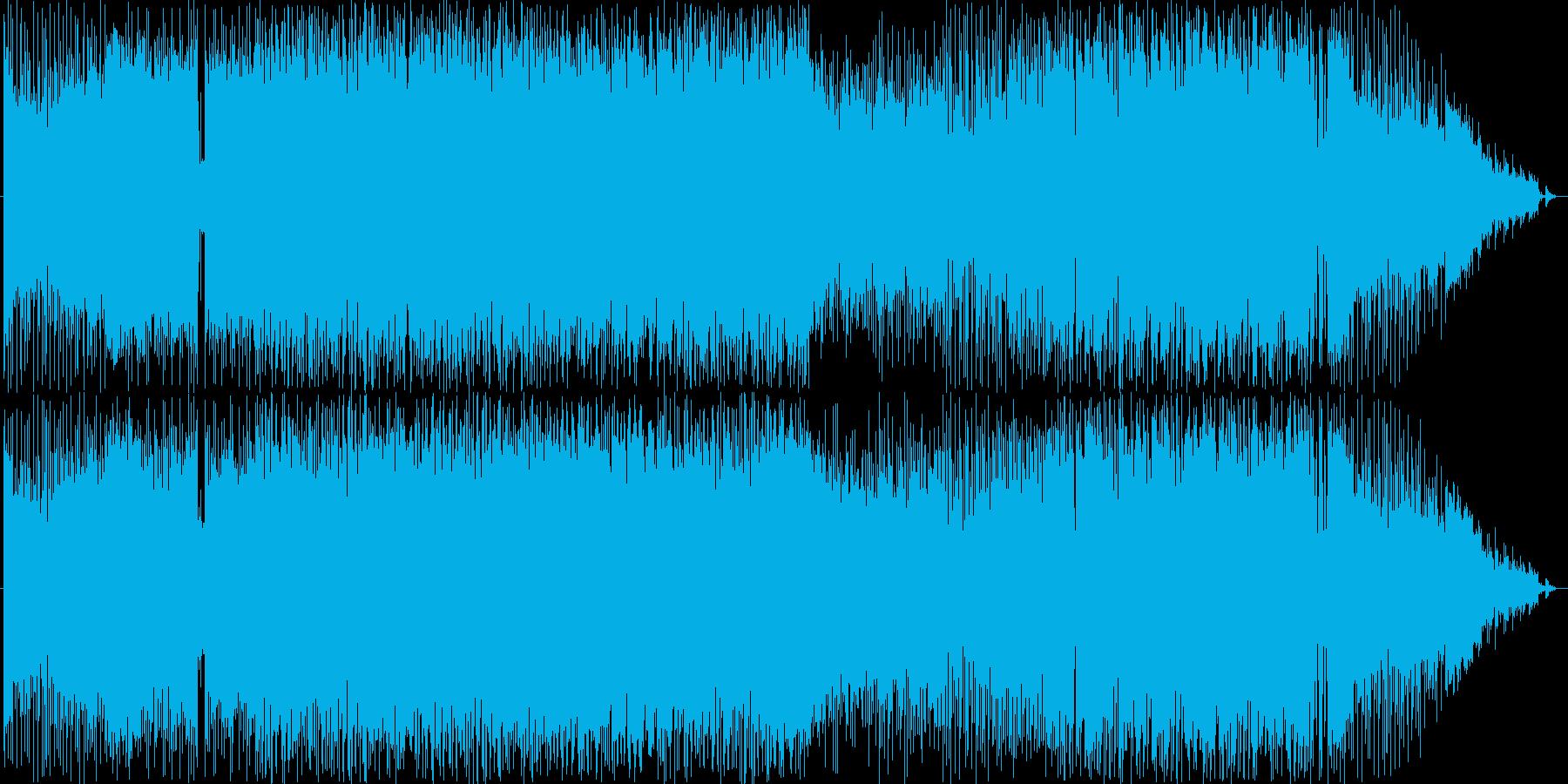 サイバー感のある強敵とのバトル曲の再生済みの波形
