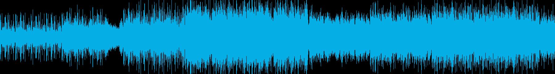 走り抜ける疾走感のあるデジタルロックの再生済みの波形