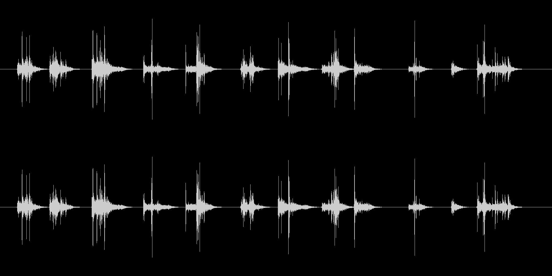 ペットボトルのキャップあける音の未再生の波形