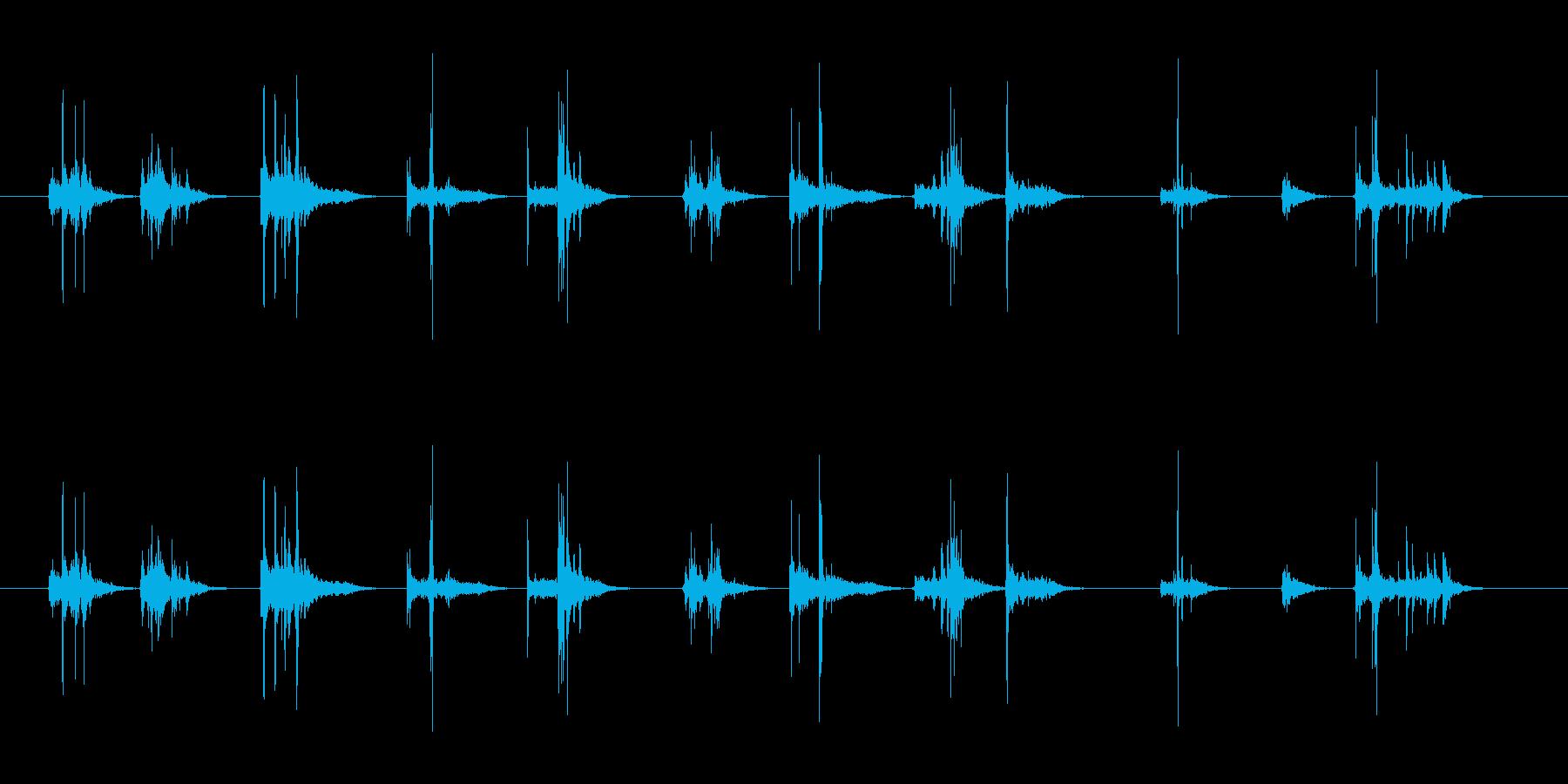 ペットボトルのキャップあける音の再生済みの波形