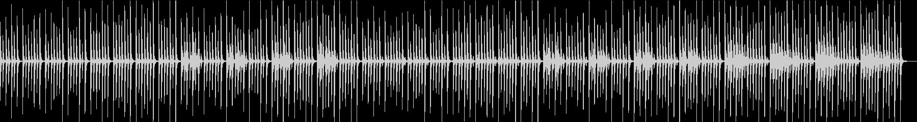 優しく清潔感のある曲の未再生の波形