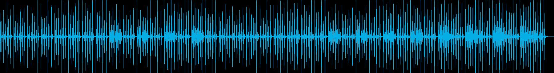 優しく清潔感のある曲の再生済みの波形