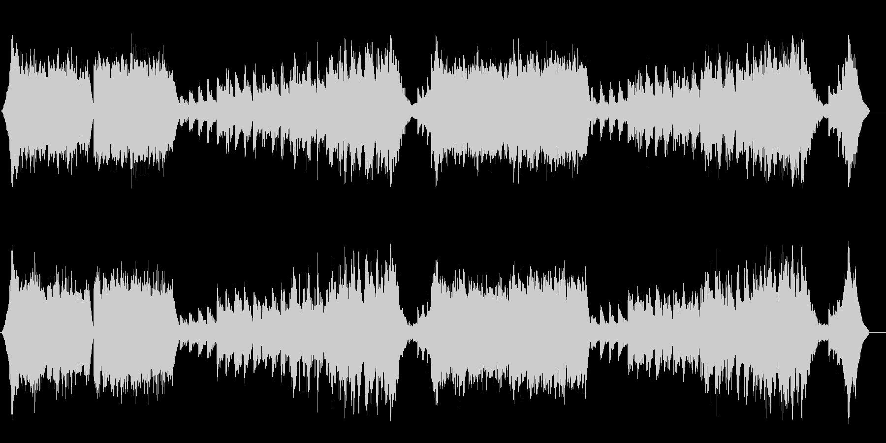 ナチュラルでスローなアンビ系フュージョンの未再生の波形