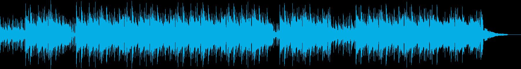 浮遊感を感じるBGMの再生済みの波形