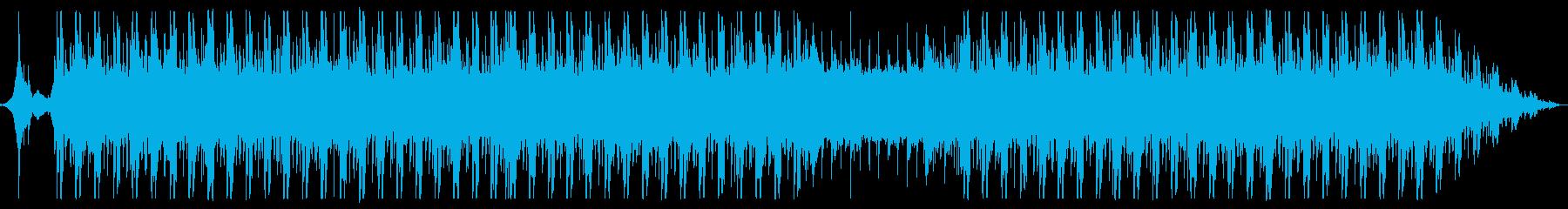 プレゼン、CM等でありそうな未来的な曲の再生済みの波形