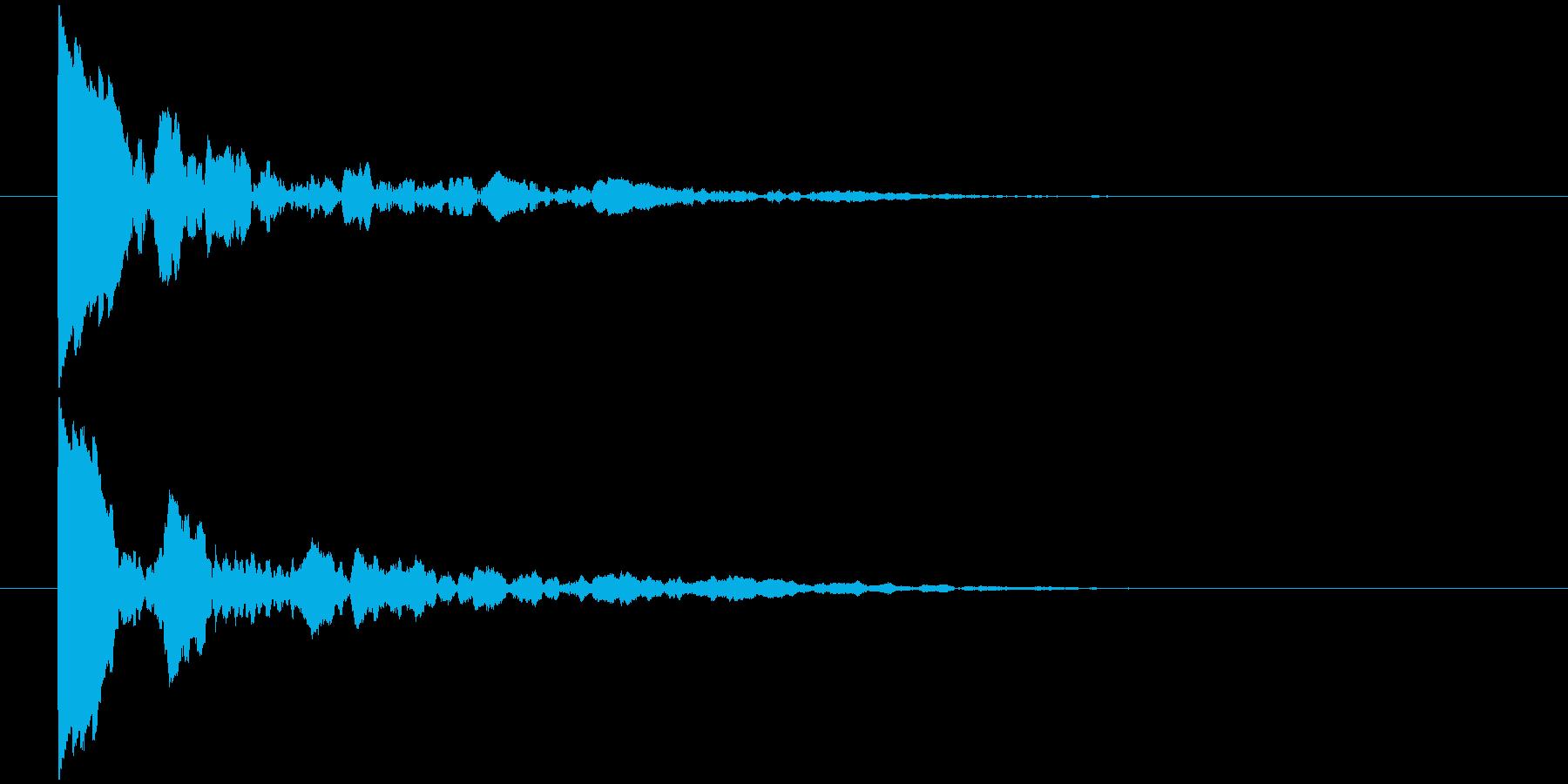 ッポン!(響き有)の再生済みの波形