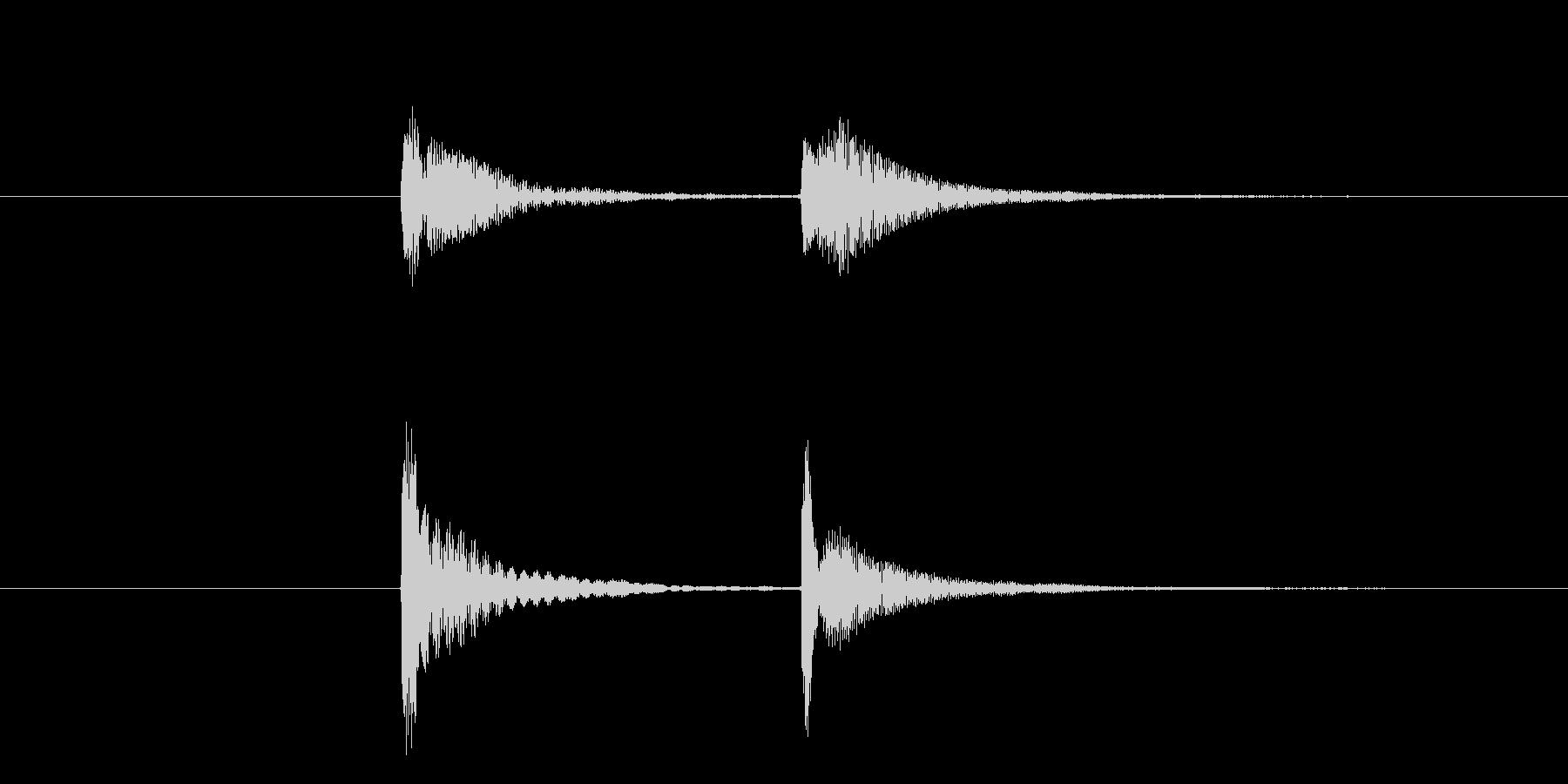 木琴による ちゃんちゃんの未再生の波形