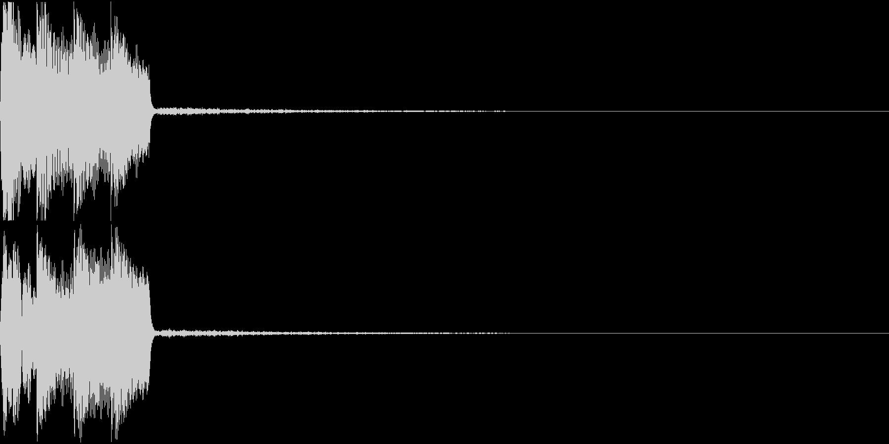 ピコピコ音 クリック 選択 決定 01の未再生の波形