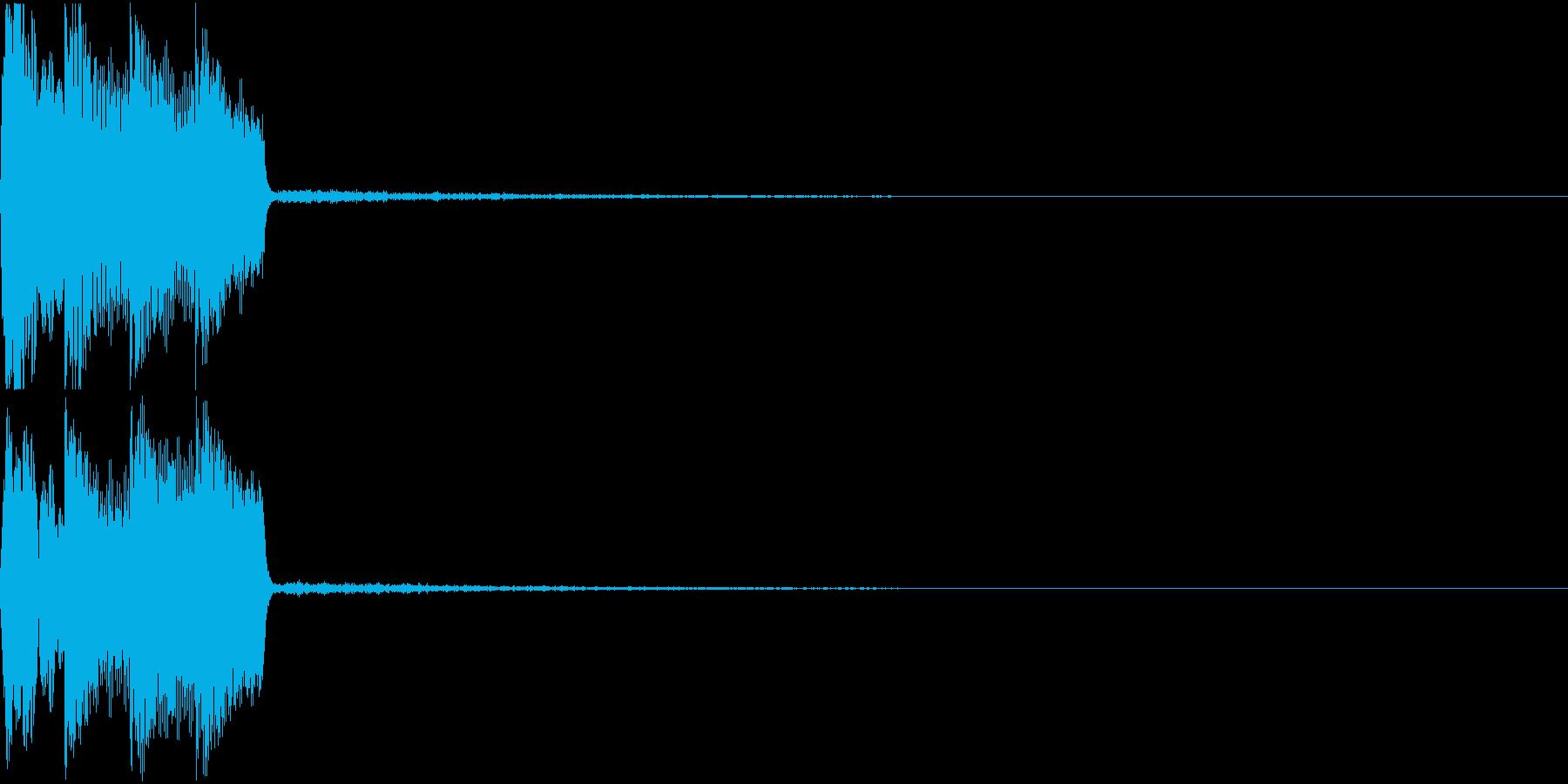 ピコピコ音 クリック 選択 決定 01の再生済みの波形
