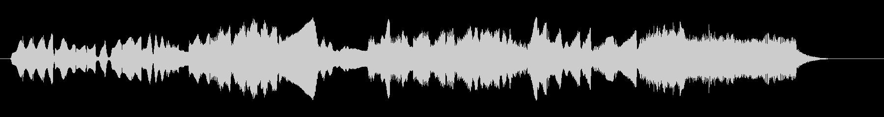 鍵盤ハーモニカとオルガンによる牧歌の未再生の波形