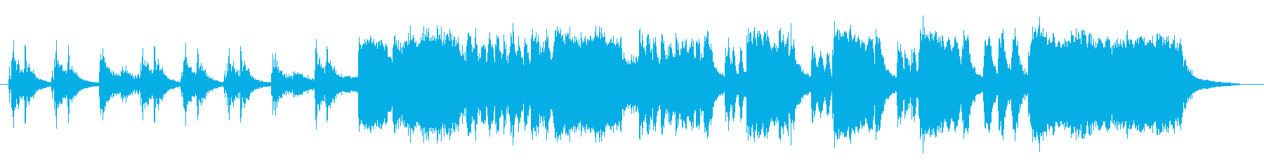 超ベタでわかりやすいブラスファンファーレの再生済みの波形