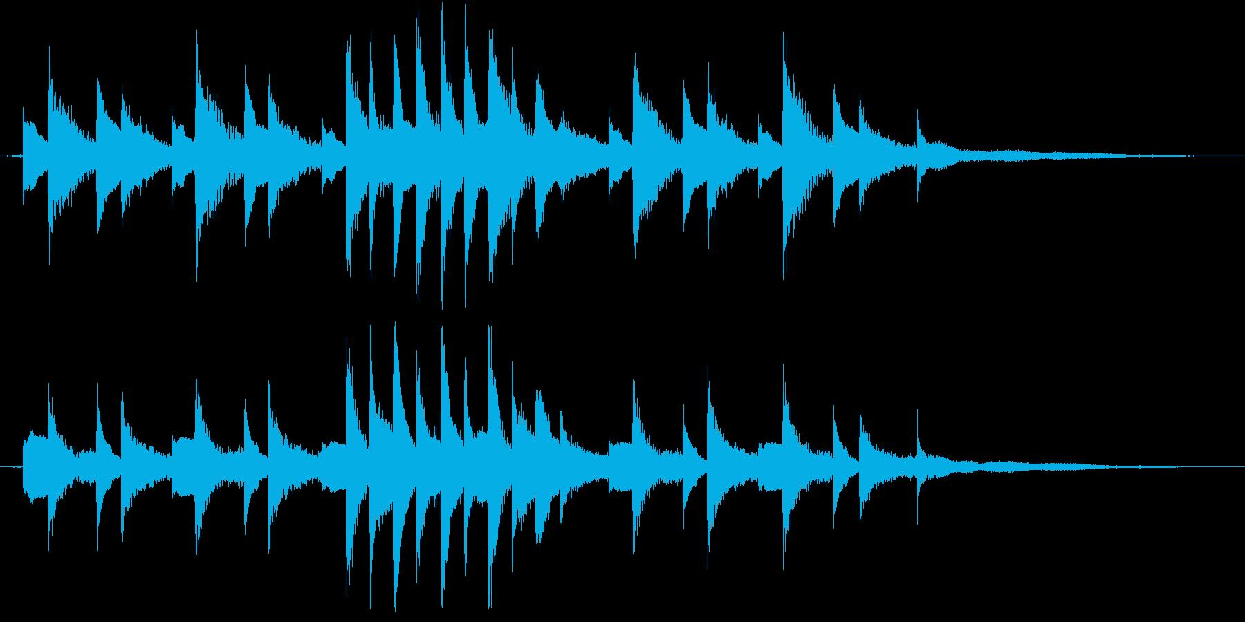 生ピアノ録音-ジムノペディのようなソロの再生済みの波形