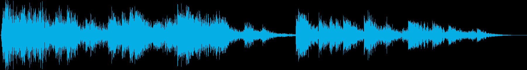 ミディアムメタルドラムのスタック:...の再生済みの波形