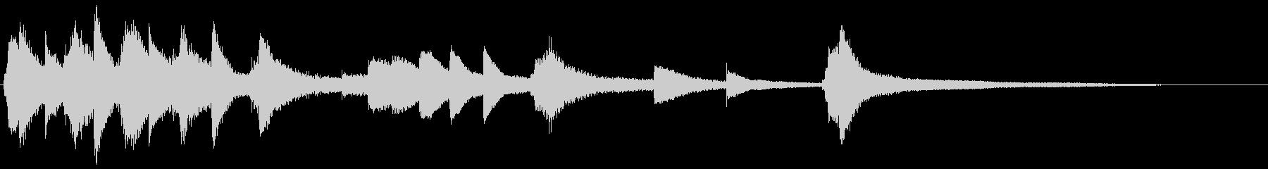 やさしい印象の、ピアノソロジングルです。の未再生の波形