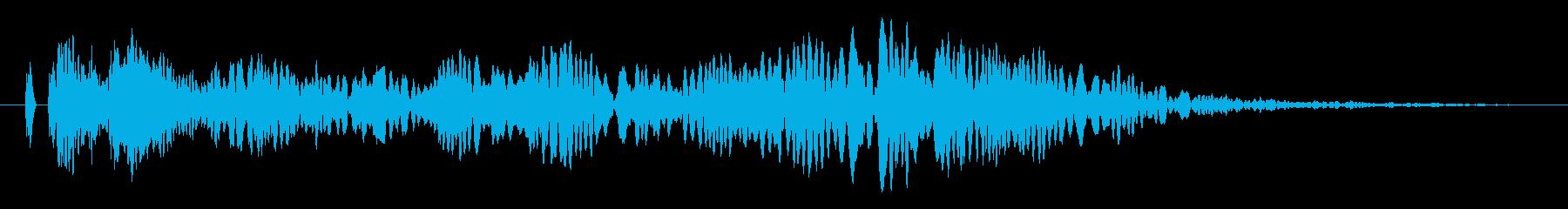 ヒュ〜!本当にリアルな花火の効果音!の再生済みの波形