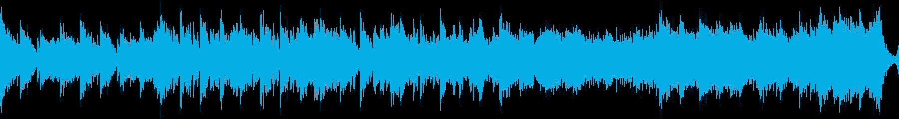 中華風の穏やかなBGM・ループの再生済みの波形
