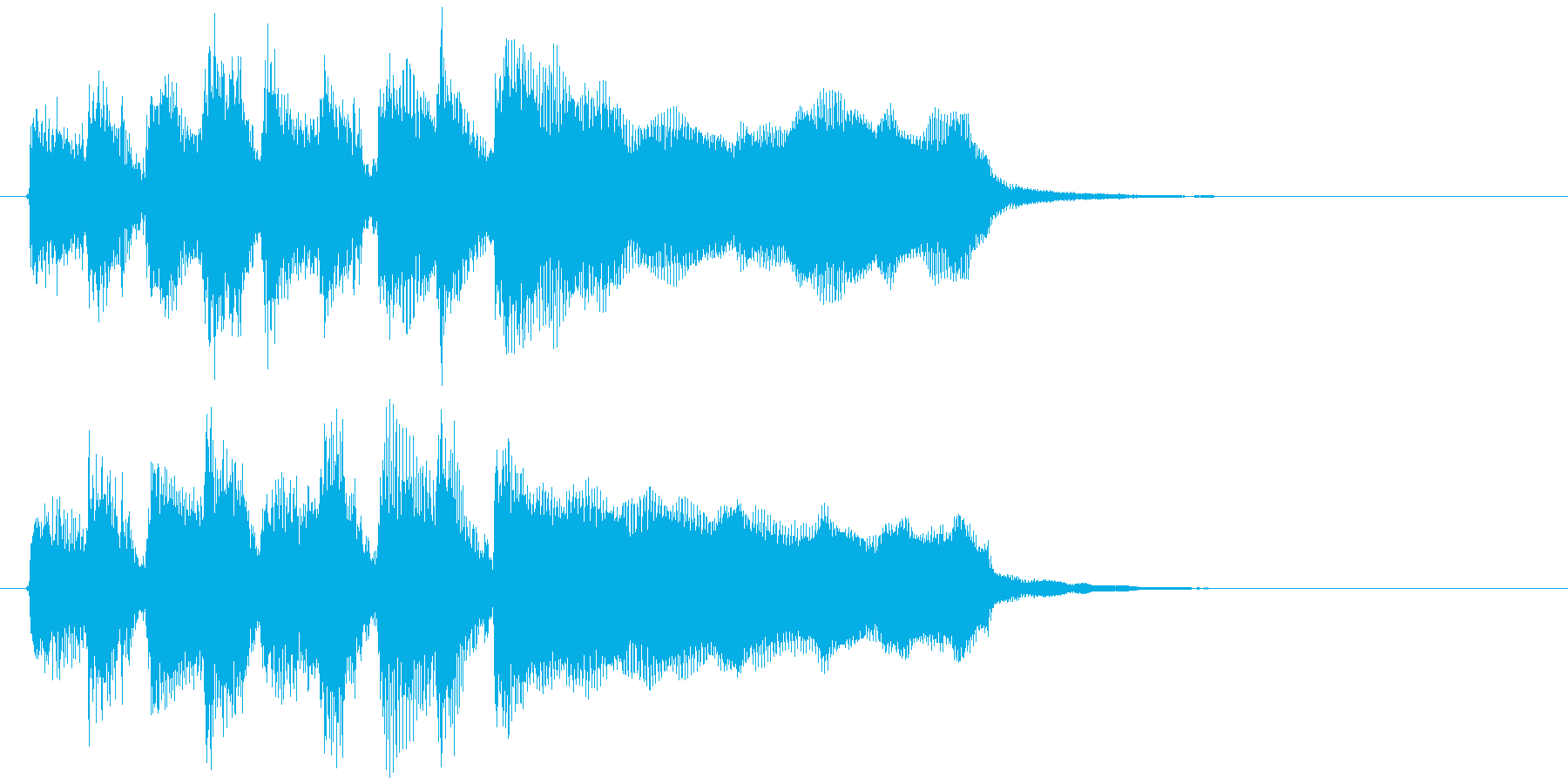 ステージクリアのジングル、ラッパ系の再生済みの波形