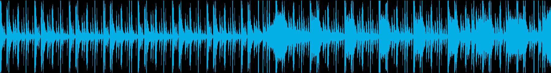 未来感のあるテクスチャー系BGMの再生済みの波形