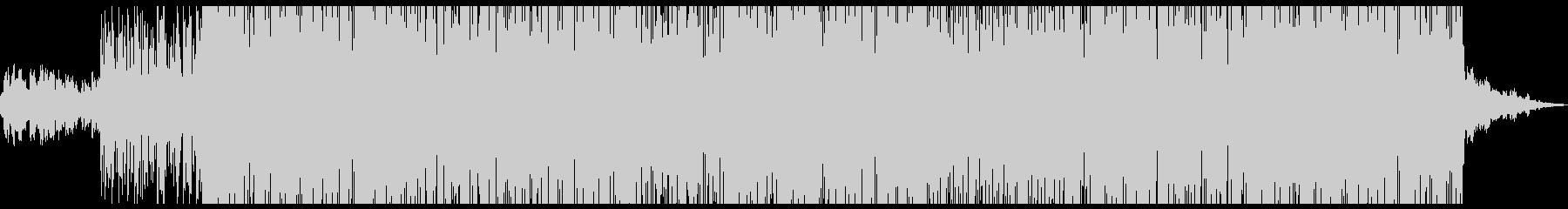 キャッチーな歌とロックテイストのラップの未再生の波形