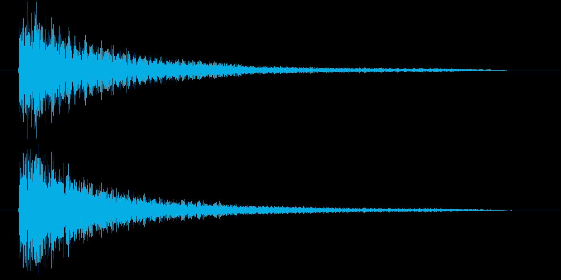 ガガーン(ショックを受ける音)の再生済みの波形