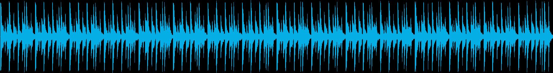 ディープハウス風ループ、紹介・宣伝動画にの再生済みの波形