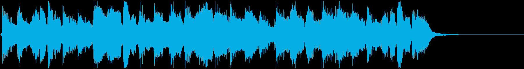 のほほんとした可愛いリコーダージングルの再生済みの波形