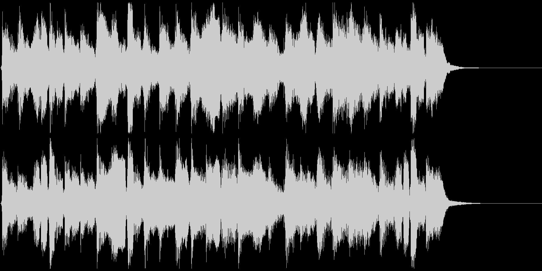 のほほんとした可愛いリコーダージングルの未再生の波形