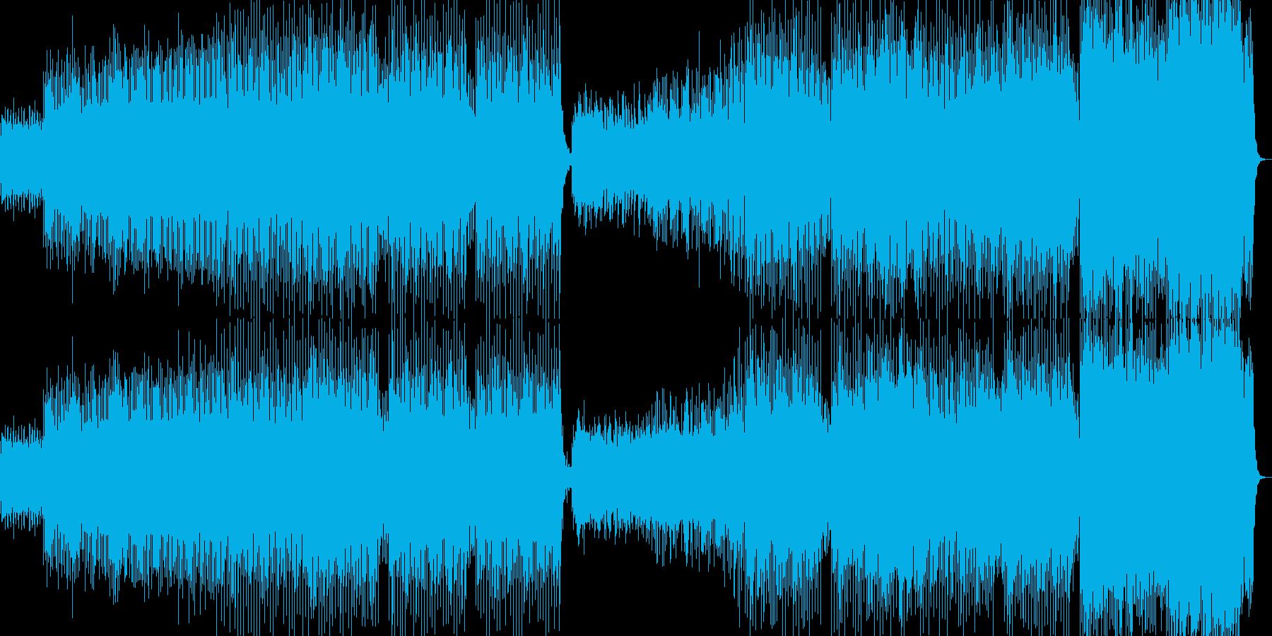 沖縄下千鳥音階によるハードテクノの再生済みの波形