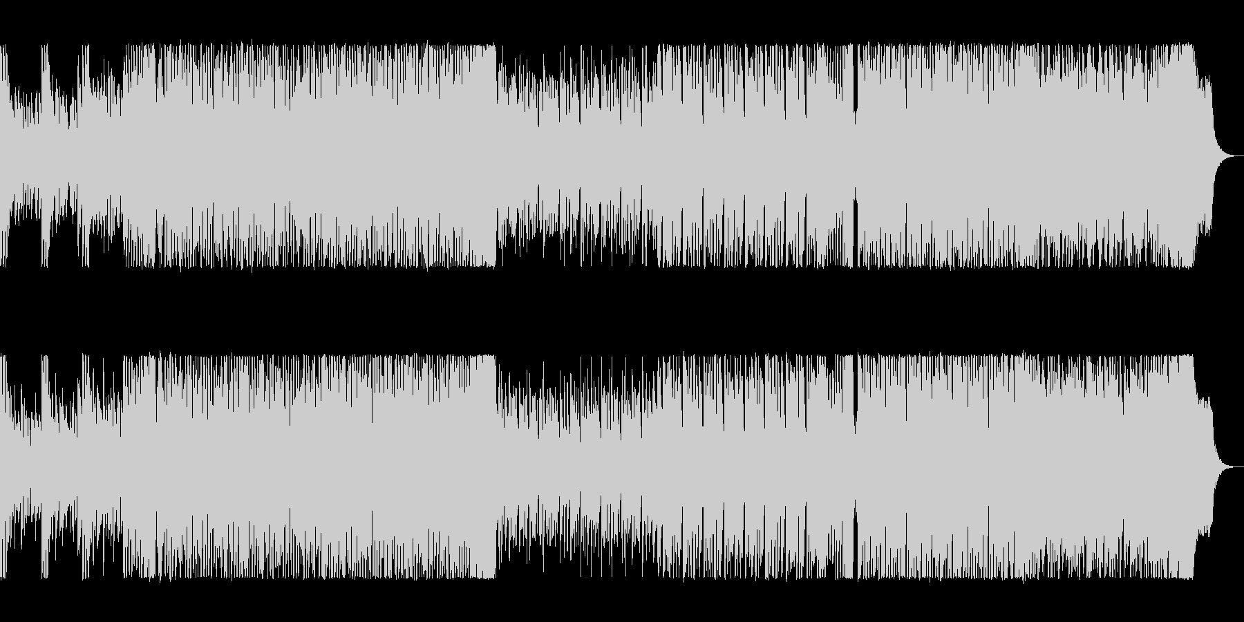 シンセサイザーとドラムのリズミカルな曲の未再生の波形