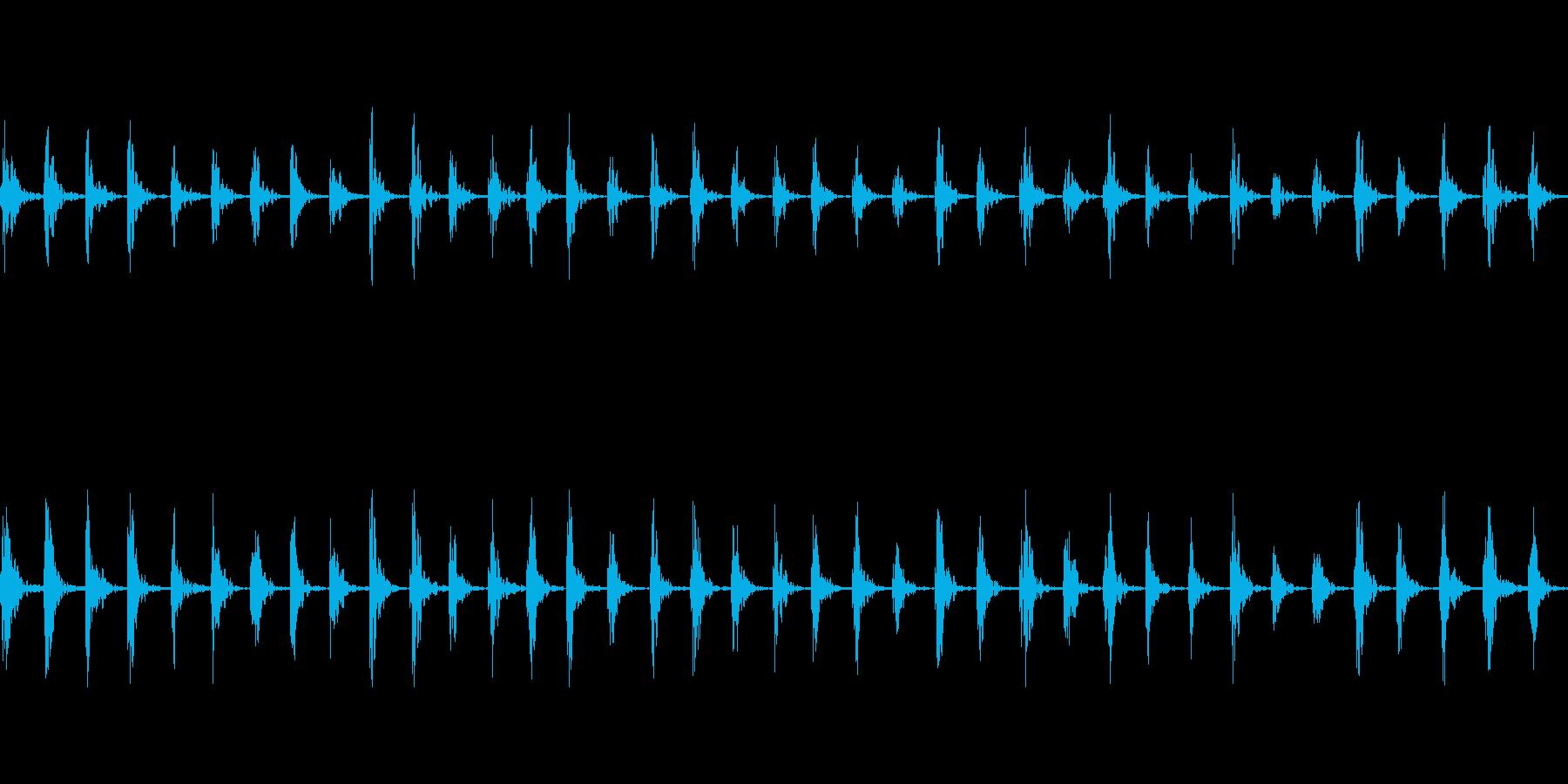 【足音01-2L】の再生済みの波形