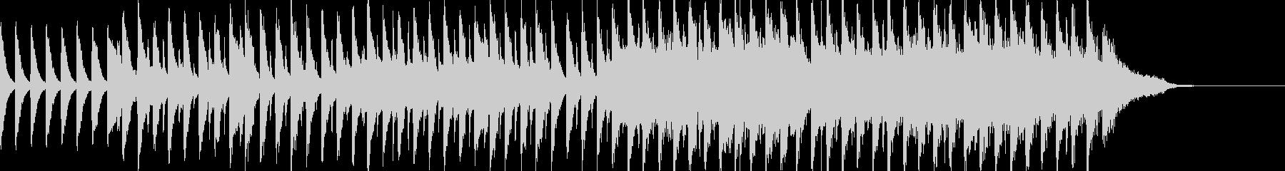 ポップで明るいBGMの未再生の波形