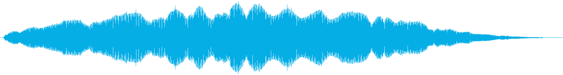 ブーン、とハエが飛ぶ音ですの再生済みの波形