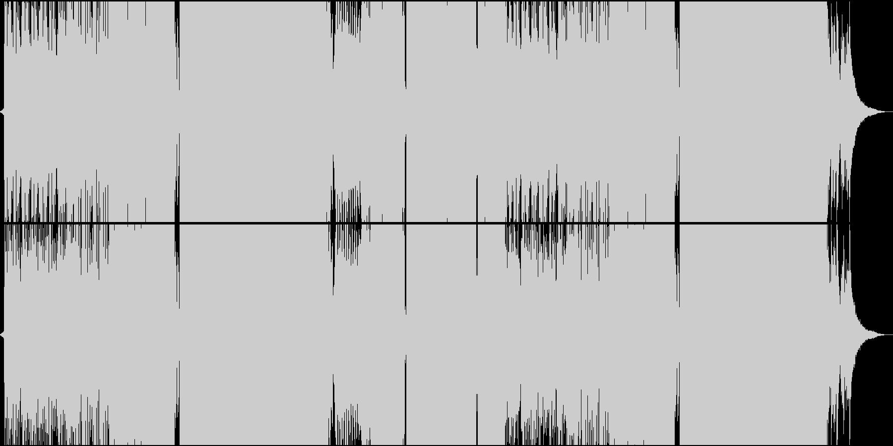 切ないピアノ中心のFutureBassの未再生の波形