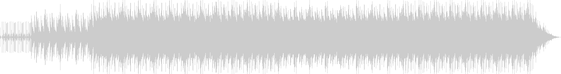 粛々と進むビートとピアノの残響の未再生の波形