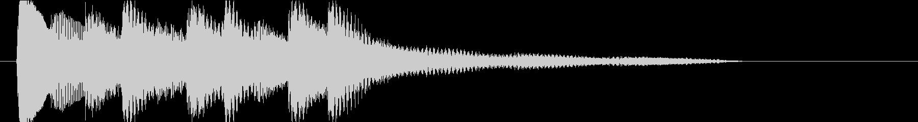 アイキャッチ4 ピアノの未再生の波形