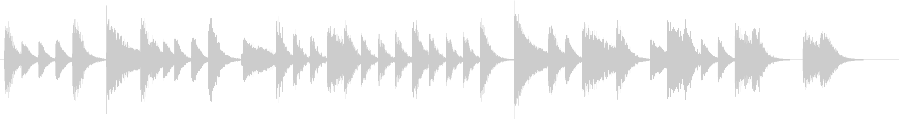 節分に!豆まきモチーフピアノジングルCの未再生の波形