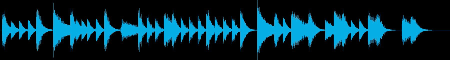 節分に!豆まきモチーフピアノジングルCの再生済みの波形