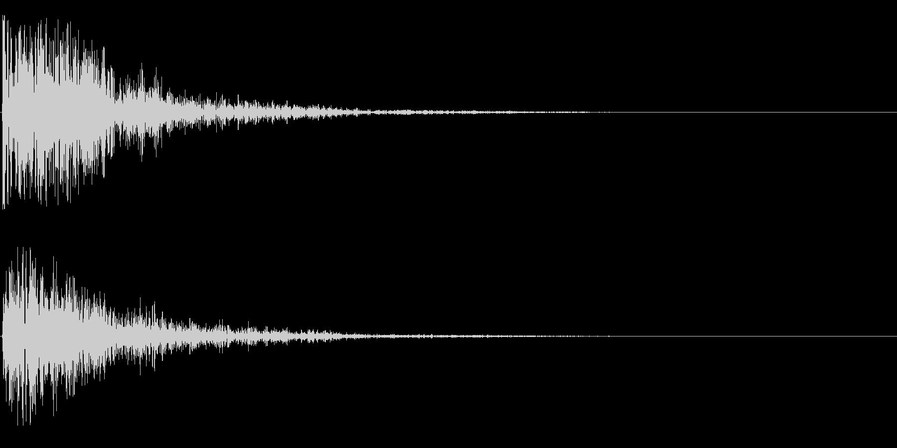 ゴォーンの未再生の波形