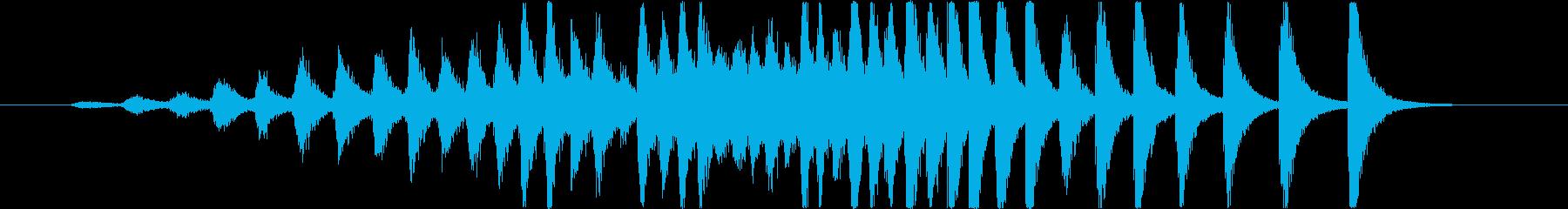 幕開き(銅鑼みたいな音)中距離の再生済みの波形