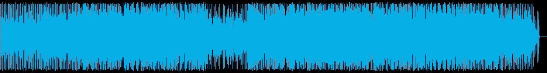 リズミカルでありクールなBGMの再生済みの波形