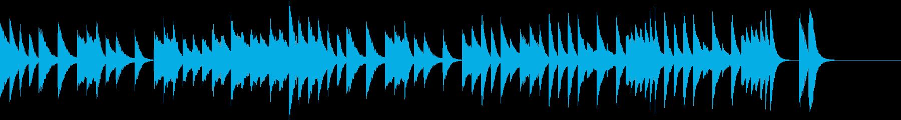 お茶目な雰囲気の歯切れ良いピアノジングルの再生済みの波形