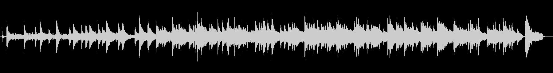 ピアノと少年合唱団によるバラードBGMの未再生の波形
