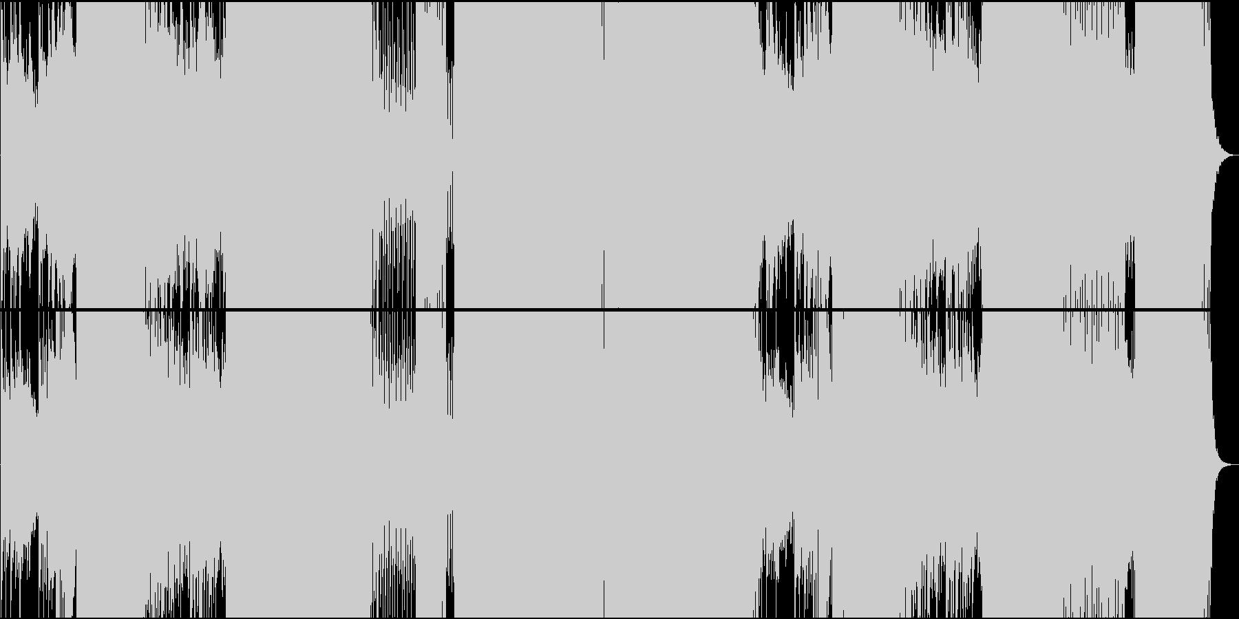 オリエンタルで力強いEDMの未再生の波形