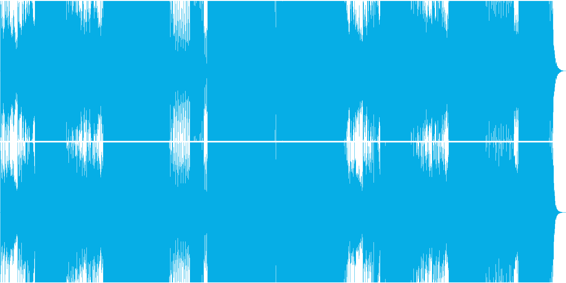 オリエンタルで力強いEDMの再生済みの波形