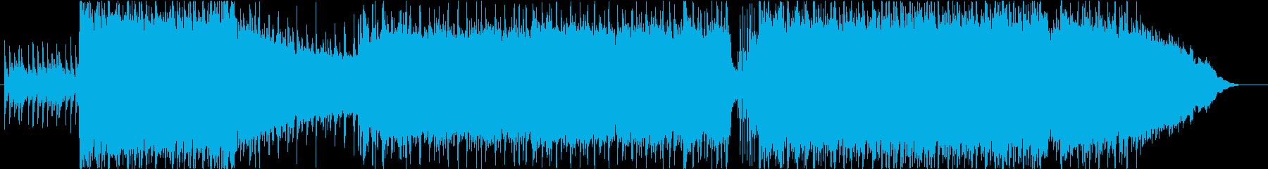 ロックサウンドのBGMです。の再生済みの波形