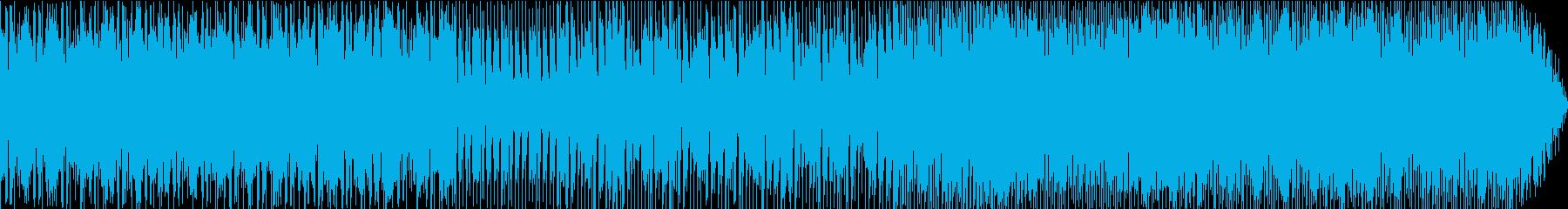 ワールドミュージックな感じの曲の再生済みの波形