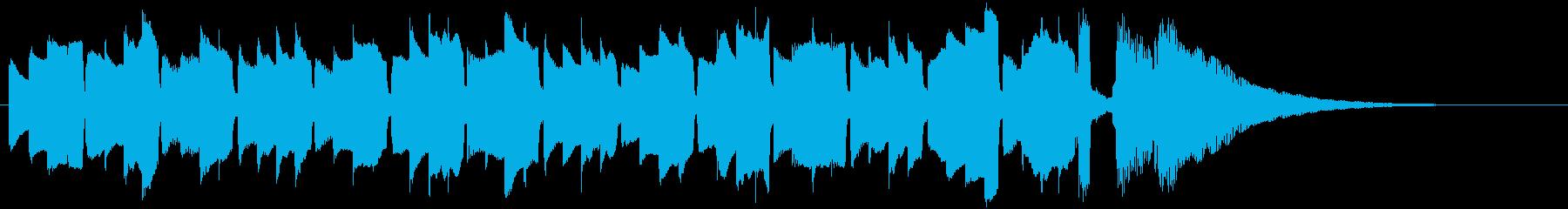 アコギの優しいシンプルアルペジオの再生済みの波形
