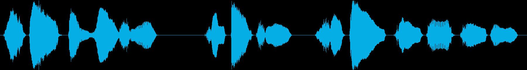 【中国語】間隔開けて並んでくださいの再生済みの波形